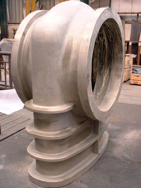 Gate Valve Body  - 2800 Kg in aluminium Bronze Sand Casting