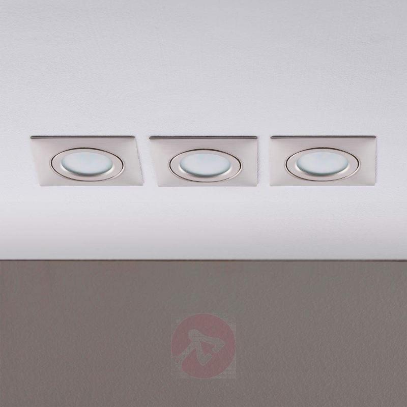 Set of 3 LED recessed ceiling lights Andrej square - Recessed Spotlights