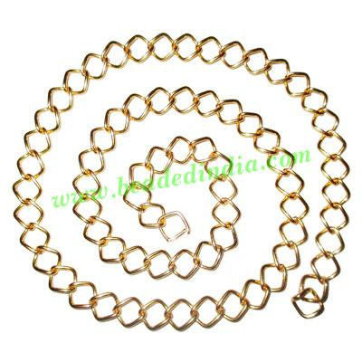 Gold Plated Metal Chain, size: 1x9.5mm, approx 24.4 meters i - Gold Plated Metal Chain, size: 1x9.5mm, approx 24.4 meters in a Kg.