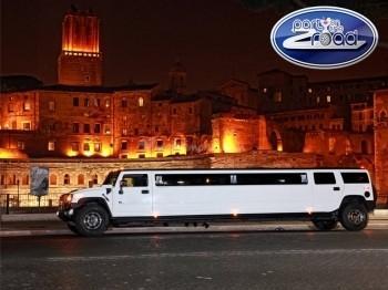 Noleggio Limousine - Hummer limousine Lunga 11 metri bianca unico nel suo genere