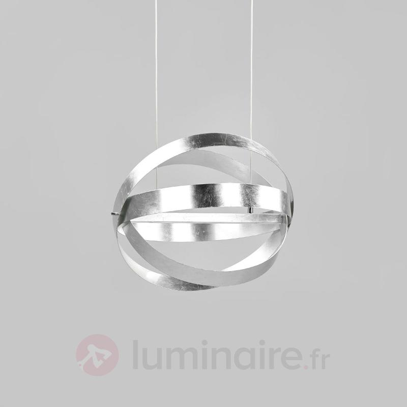 Suspension LED argentée Rings - Suspensions LED