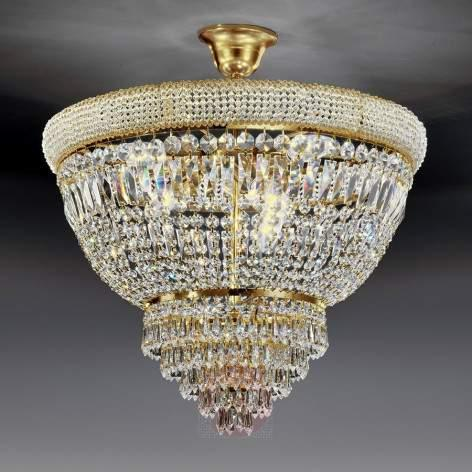 OSAKA 60 crystal ceiling light with 24-carat gold - design-hotel-lighting
