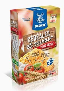 Céréales et Saveur Pesto Rosso Bloch - Cérales gourmandes saveur Pesto Rosso Etuis de 350 grammes