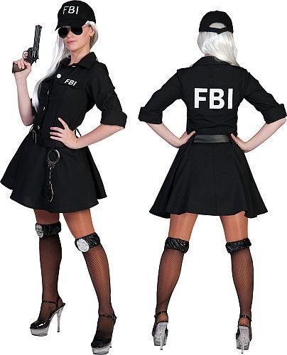 Costume FBI dame taille 32/34 à 44/46 - Articles de fête et Carnaval