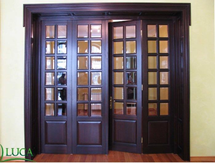 Interior wooden door - Glazing door