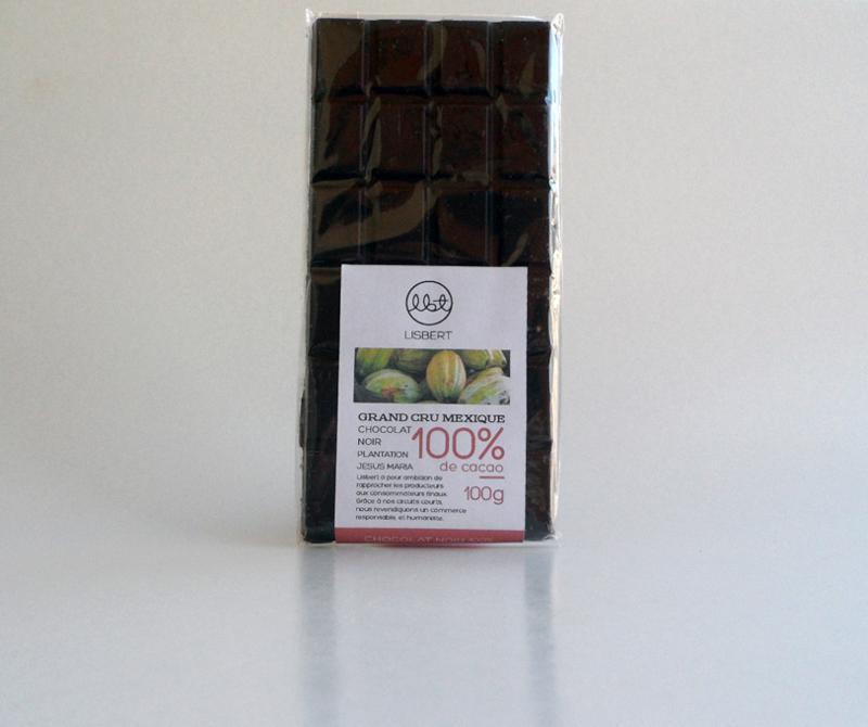 Chocolat Noir 100 % cacao pure origine Mexique... - Épicerie sucrée