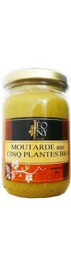 Moutarde aux 5 plantes Bio 200G - Epicerie salée