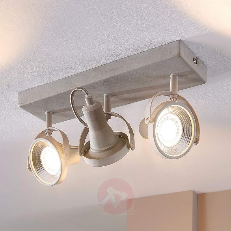 3-bulb LED ceiling spotlight Pieter - Ceiling Lights