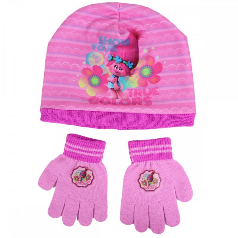 3x Bonnets et gants Trolls - Bonnet Gant Echarpe