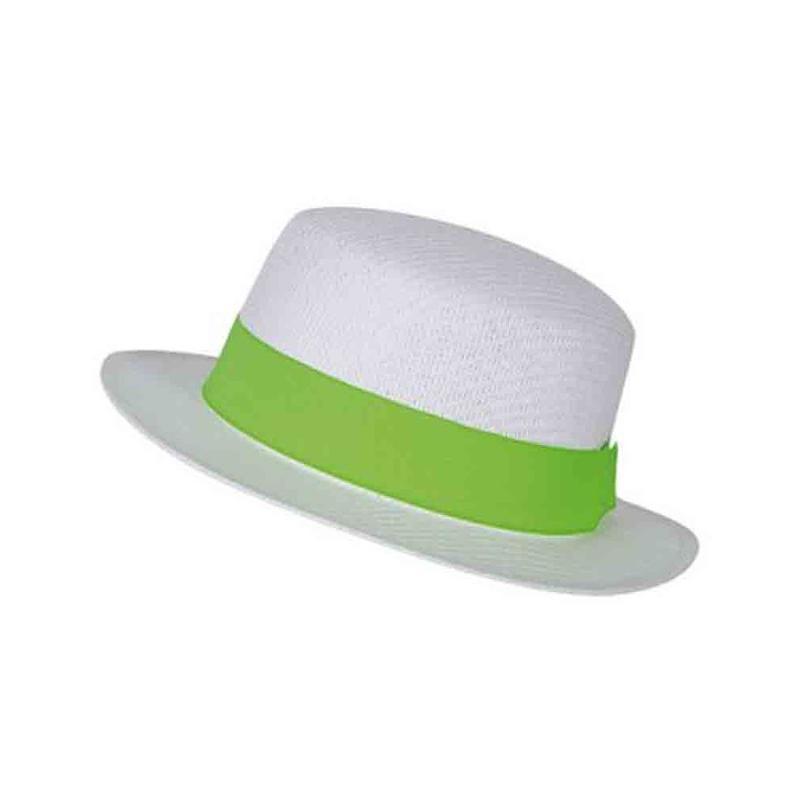 Chapeau canotier blanc/blanc - Chapeaux