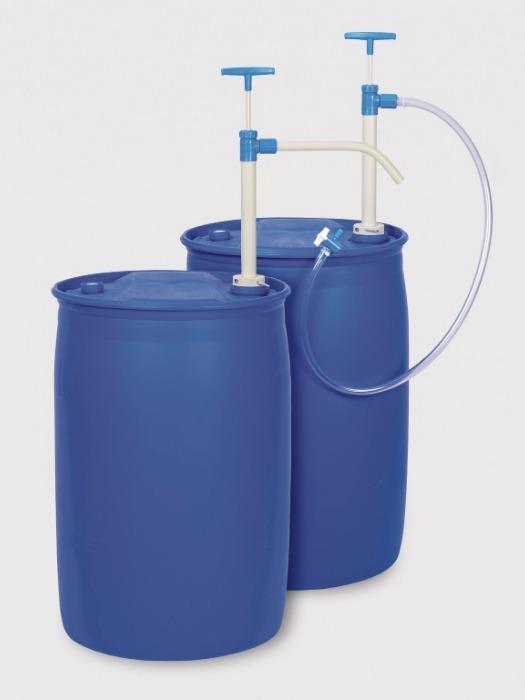 Bomba de PP para barril - boquilla - Bomba manual, tubo de descarga o manguera, para ácidos, álcalis y agresivos