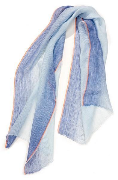 Etole jacquard lin ombrée - col 5 - bleu