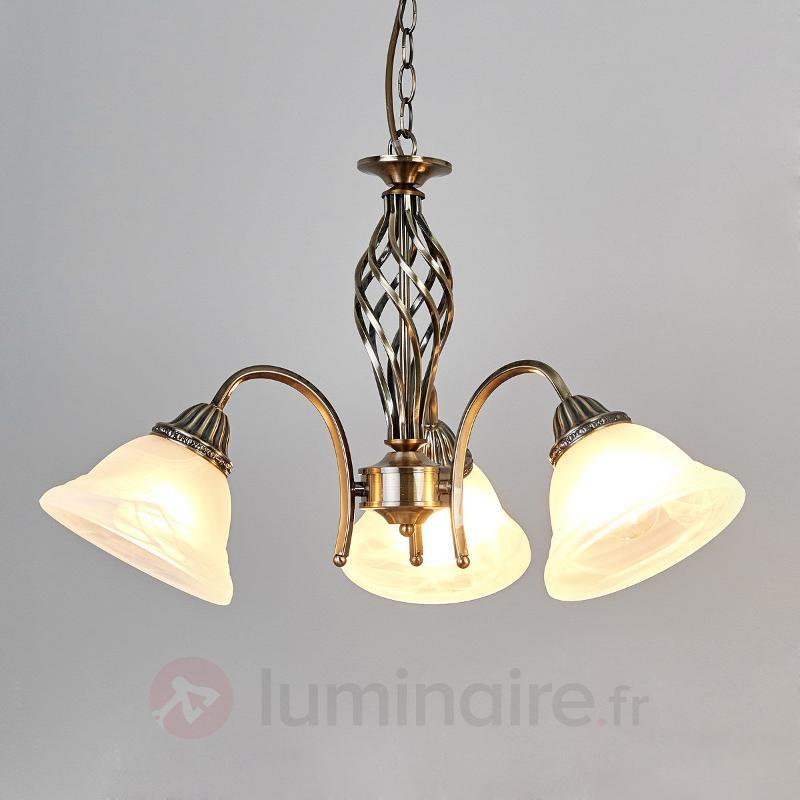 Suspension Mialina à trois lampes - Suspensions classiques, antiques
