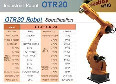 OTR20 - OTR20 OTO Industrial robot in Korea