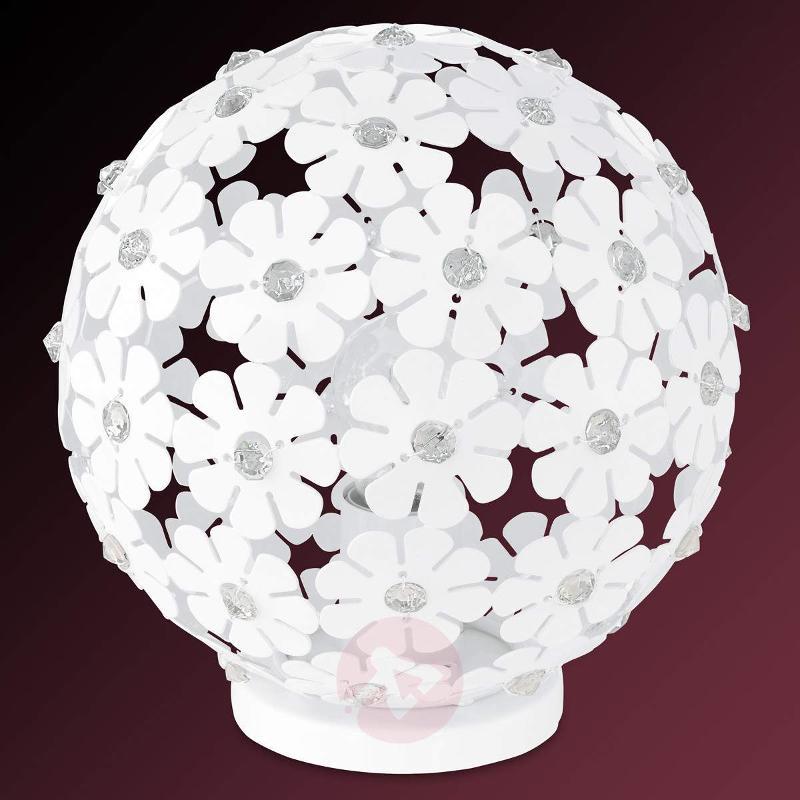 Spherical Hanifa metal table lamp with flowers - Bedside Lamps