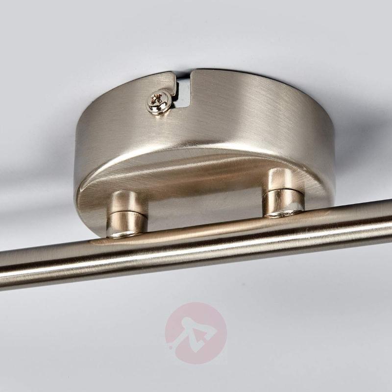 Discreet LED ceiling lamp Jonne, matt nickel - Ceiling Lights