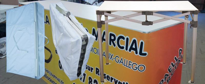 Table pliante ALU - Mobiliers pliants haut de gamme