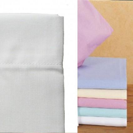Linge de lit : draps, taies, alèses - Linge de Lit blanc et pastels Poly Coton