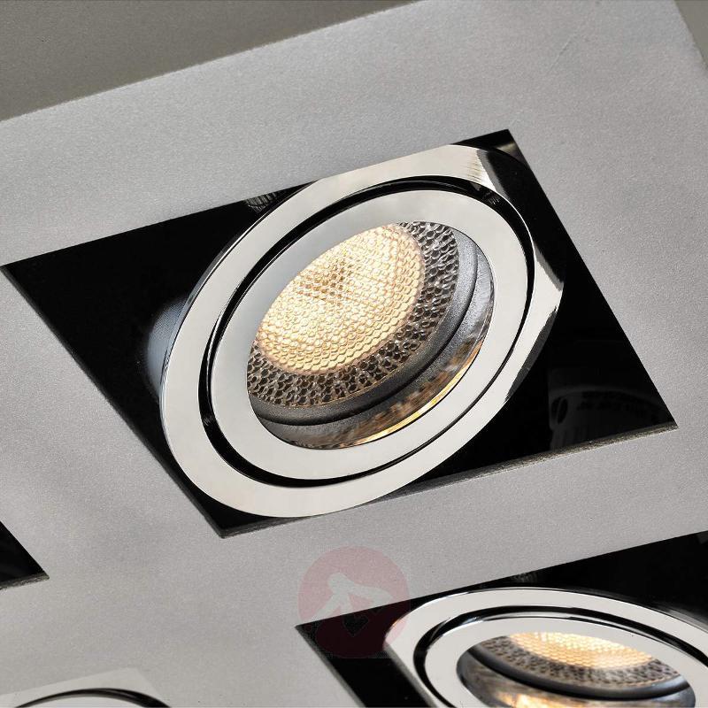 Square Vince LED ceiling light, 9-bulb - Ceiling Lights