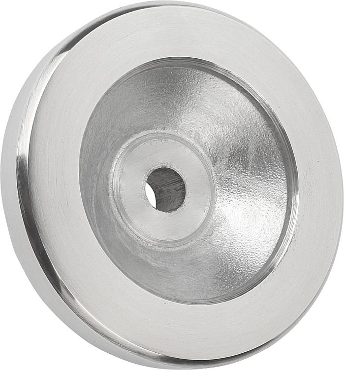 Disc Handwheels aluminum planed, without handle, inch - K0161 Inch