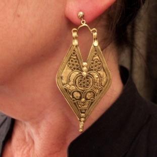 Boucles d'oreilles - Or 22ct, Inde