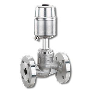 Pneumatically operated globe valve GEMÜ 530 - The 2/2-way globe valve  is pneumatically operated.