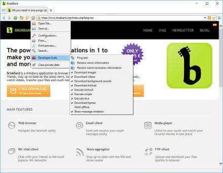 BriskBard - El navegador de Internet para Windows más completo del mercado
