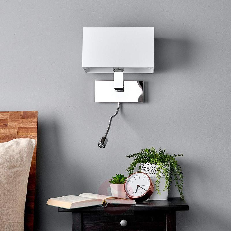 Wall light Tamara with fabric shade, LED flex arm - Wall Lights