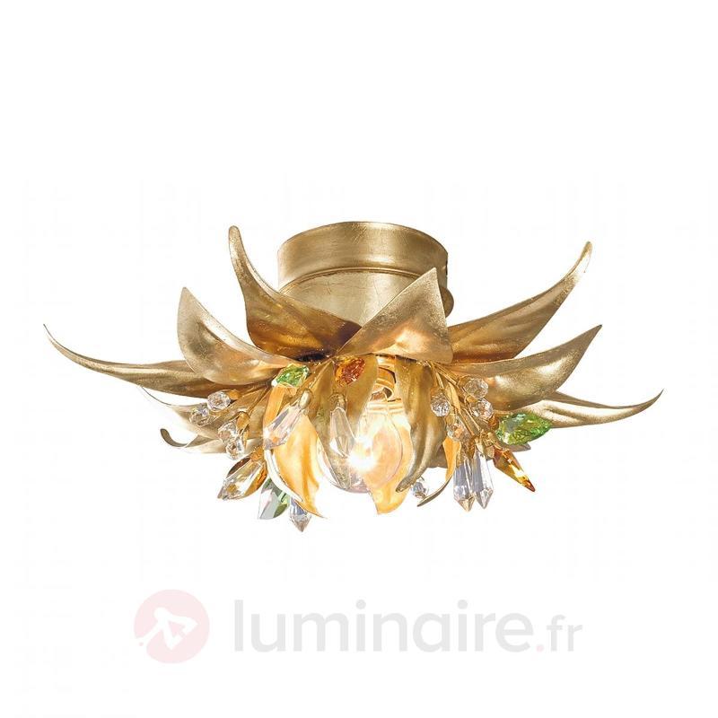 Petit plafonnier recouvert de feuilles d'or Boccio - Plafonniers en cristal