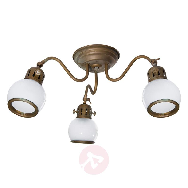 Celia - country ceiling light with white shades - design-hotel-lighting