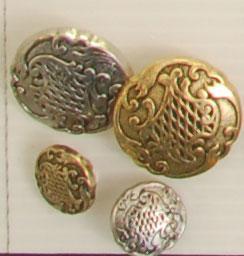 Bouton queue (Métal - Volupte argenté - 25 mm) - Boutons