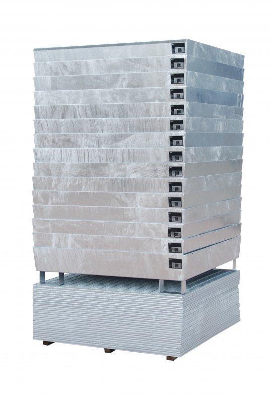 Basc de retention type ECO-S - Le bac de conique, optimisé pour la logistique, Pour le stockage de fûts