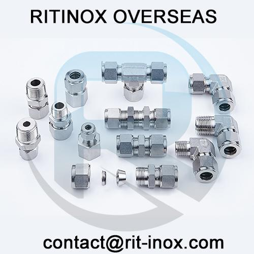 Titanium Gr 2 Compression Tube Fittings -
