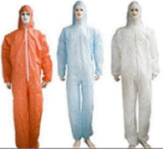 Bata microporosa desechable - Color: azul, blanco, verde, amarillo Material: material no tejido de los PP / pe