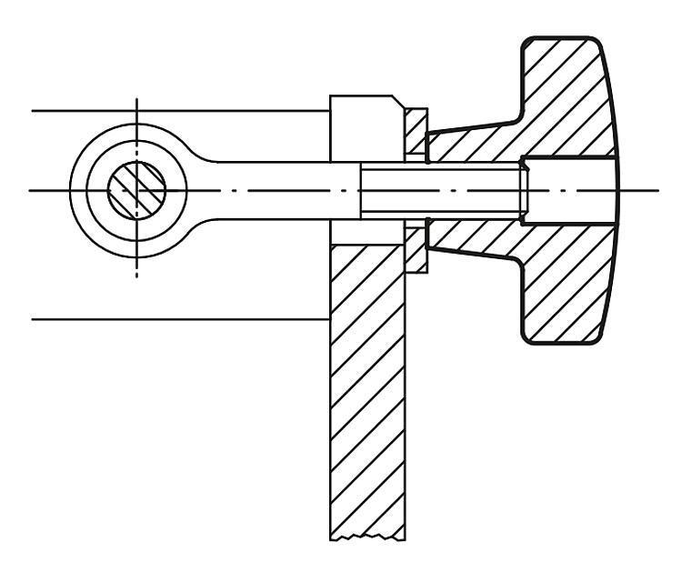 Ecrou croisillon en fonte grise DIN 6335 - Poignées et boutons
