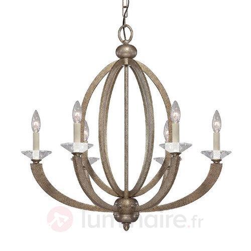 Lustre Forum à six lampes - Lustres classiques,antiques