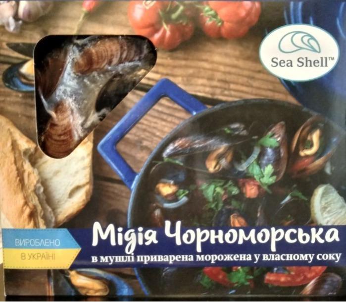 мидия черноморская замороженная ТМ Sea Shell  - производство замороженной мидии, морепродукты