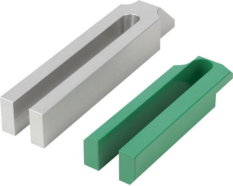 Bride ouverte à nez acier et aluminium - Bride étagée