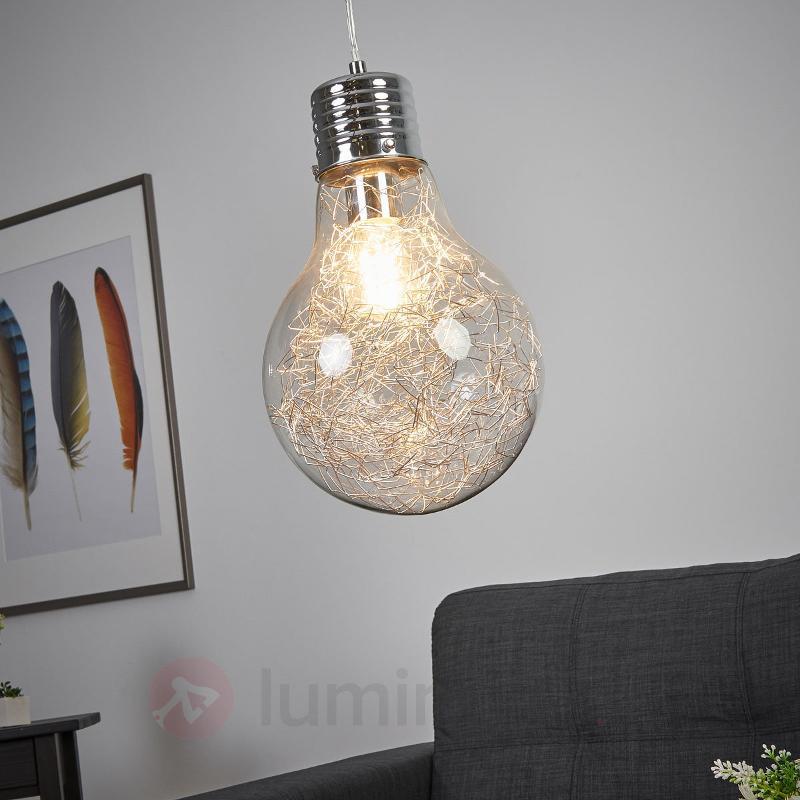 Suspension Rubi en forme d'ampoule à incandescence - Suspensions en verre