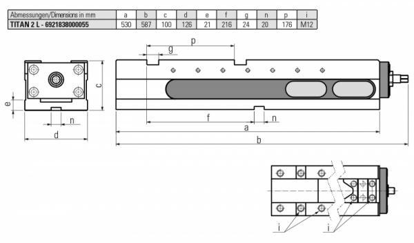 Version TITAN 2 L MECHANISCH - Sicheres und schnelles Spannen von Rohteilen, Brenn und Sägeschnitten