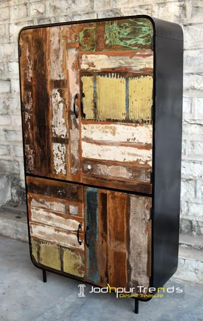 Retro Industrial Reclaimed Almira by Jodhpur Trends from Ind