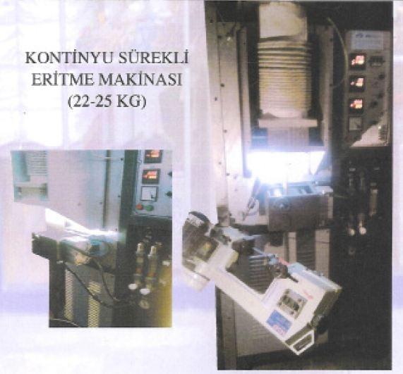 KONTINYU SÜREKLİ ERGİTME MAKİNASI 22KG-25 KG (10 MM/100 MM )