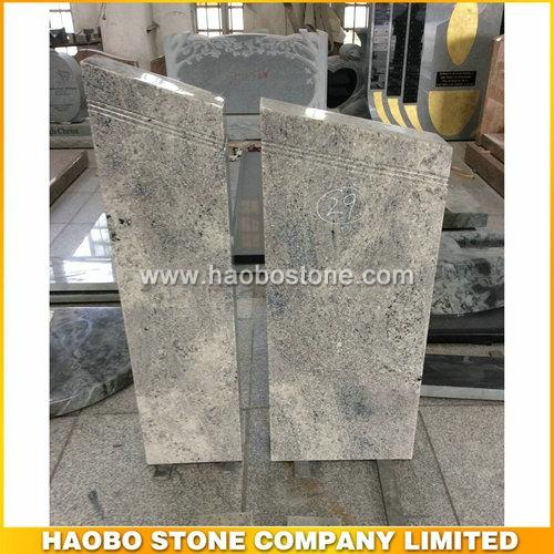 New Karshimir White Granite Monument With Simple Designs - German Monument