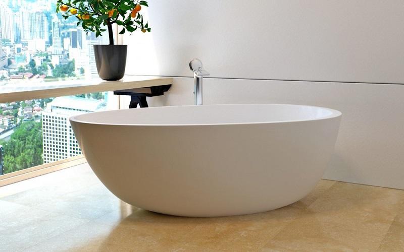 Spoon 2 Каменная Ванна - Отдельностоящая, ассиметричная, размер 168 x 90 x 57 см