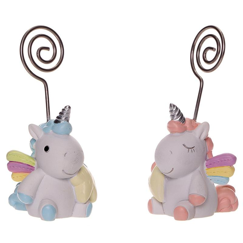 Unicorn with photoholder - Baby shower gift item