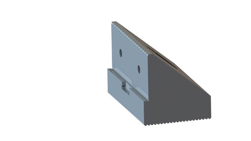 Zentrobacke oben 72 mm breit mit Krallen - null