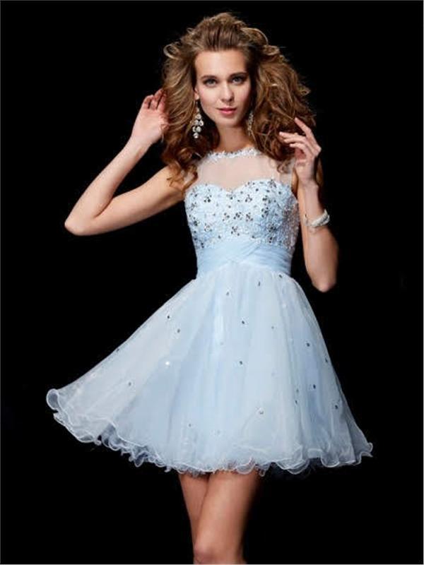 Embroidered Short Evening Dresses - Short Dress