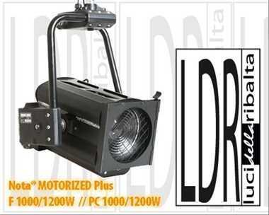 Halogen spotlights - LDR Nota f 1000 / 1200 W plus MOTORIZED black