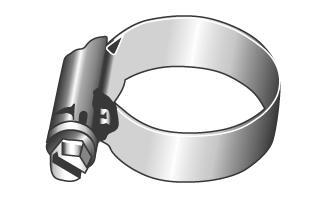 Schlauchschellen mit Schneckenantrieb, Form A - Material A2 | A4