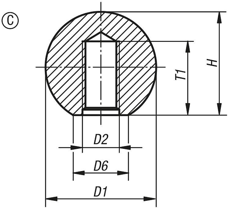 Boule lisse DIN 319 extension de gamme - Poignées et boutons